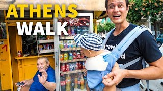 Athens Neighborhood Tour - Old Greek Coffee Shop, Convenience Kiosk, and Evening Walk!