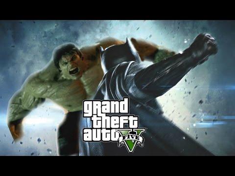 Batman vs Hulk - GTA V Mods thumbnail