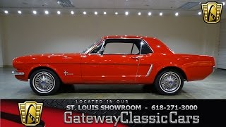#7285 1965 Ford Mustang - Gateway Classic Cars of St. Louis