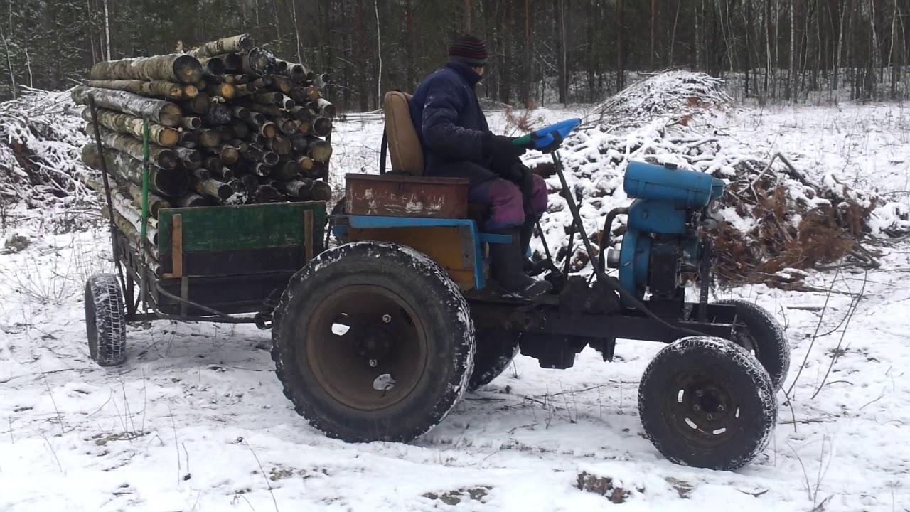 Самодельные трактора с двигателем зид в фото
