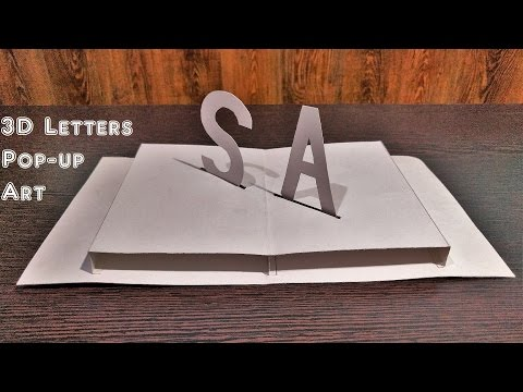 How to Make 3D Letters Pop Up Art - Pop up cards : SKM