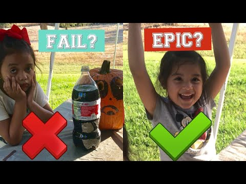 EPIC or FAIL? Coke and Mentos Kids Science experiment