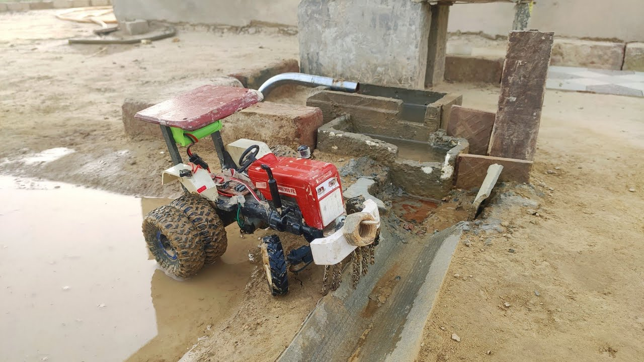 Swaraj 855 Remote control Homemade Tractor in Field