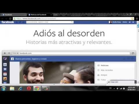 Como Actualizar Facebook A La Nueva Apariencia 2013/2014 (HD)