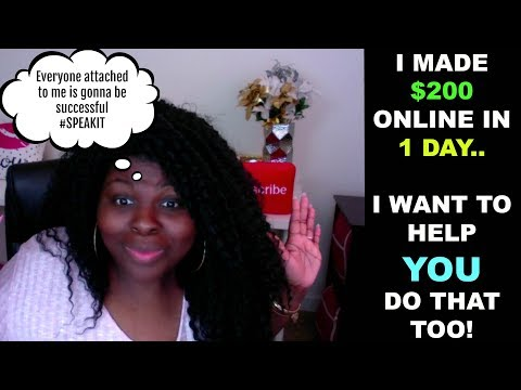 I MADE $200 ONLINE in 1 DAY using AFFILIATE MARKETING.. I WANT TO HELP YOU DO THAT TOO!