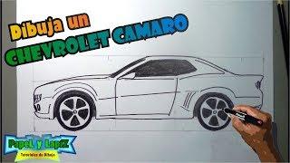 Cómo dibujar carros paso a paso 1/4 - Chevrolet Camaro