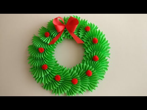 Christmas Wreath With Paper | DIY | Christmas Decoration Ideas | Paper Christmas Wreath |Paper Craft