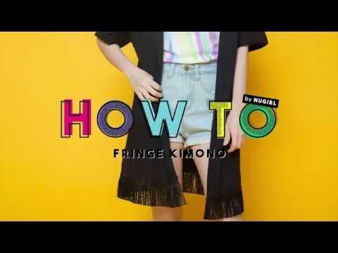 HOW TO : เสื้อคลุมกิโมโน (Fringe Kimono)
