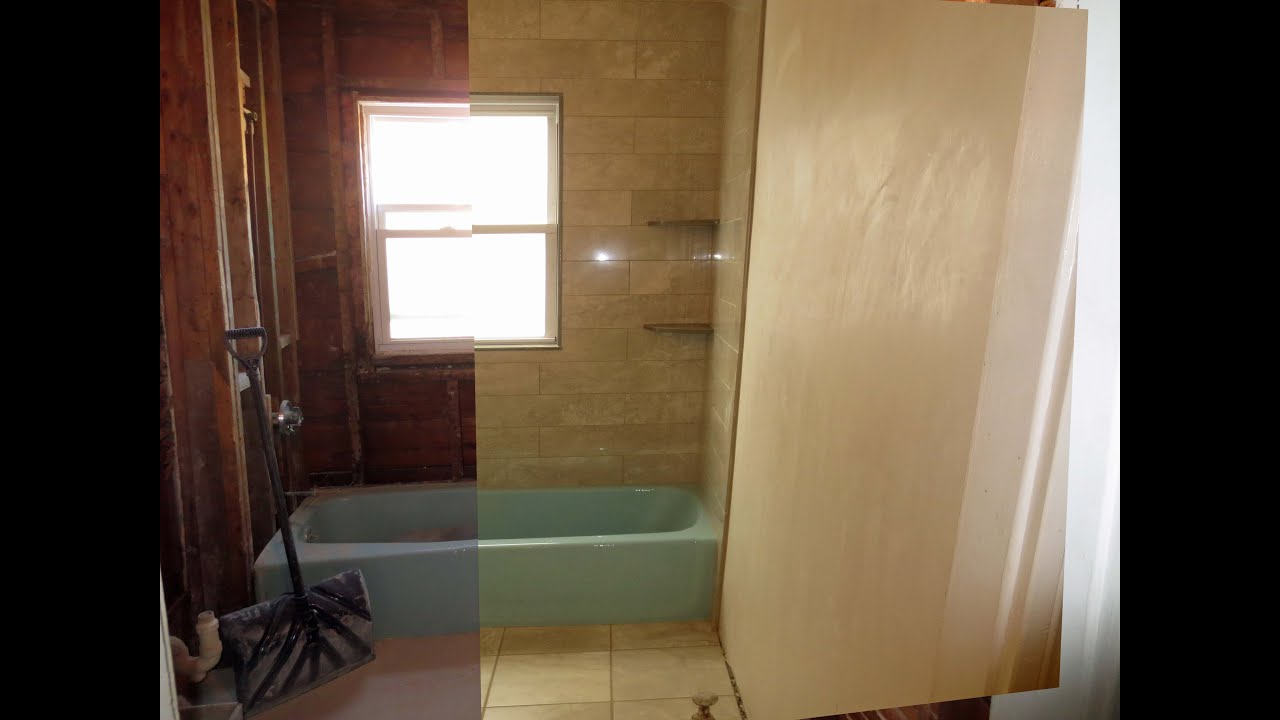 Slide Show Of A Bathroom Completely Gutted And Renovated YouTube - Gutting a bathroom