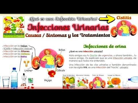 De los en sintomas rinones infeccion urinaria