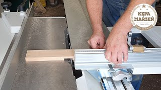 Połączenie krzyżowe zakładkowe, wykonane na pilarce stołowej   Tipy stolarskie