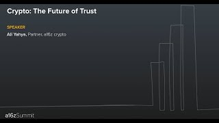 Crypto, the Future of Trust
