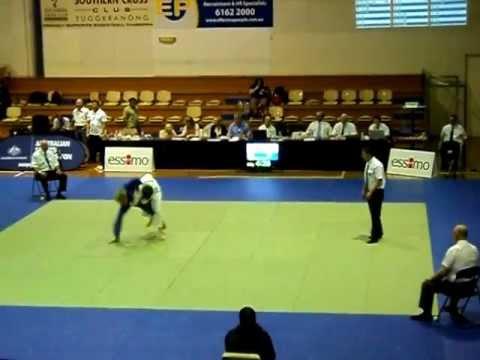 2012 ACT International Open - JUDO - Sam Patrick (White) Vs. Jonas Fisher (Blue)