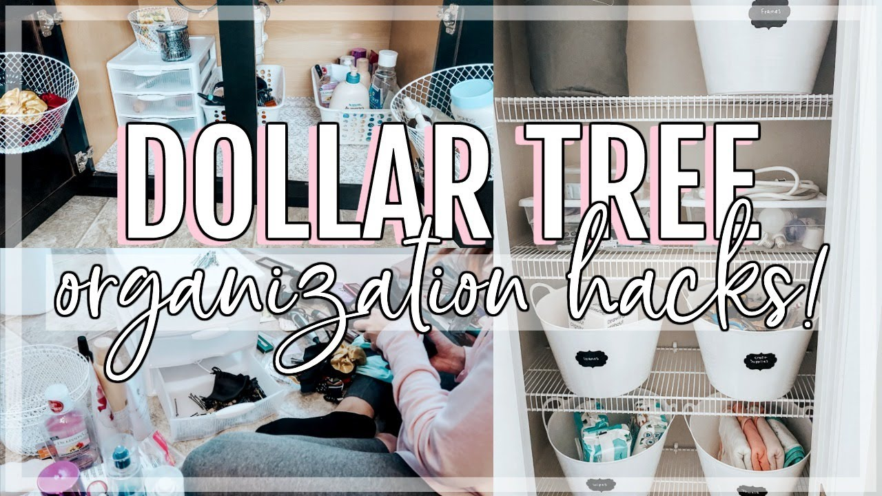 DOLLAR TREE ORGANIZATION HACKS! | UNDER SINK + CLOSET ORGANIZATION ON A BUDGET | DECLUTTER WITH ME