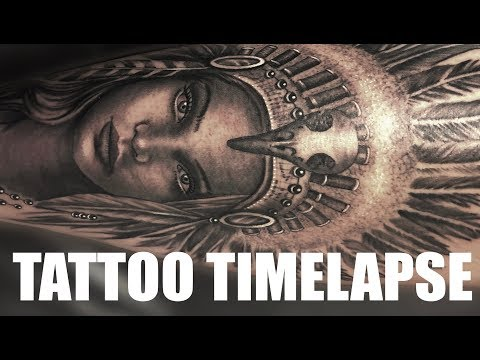 TATTOO TIMELAPSE | NATIVE INDIAN HEADDRESS | CHRISSY LEE