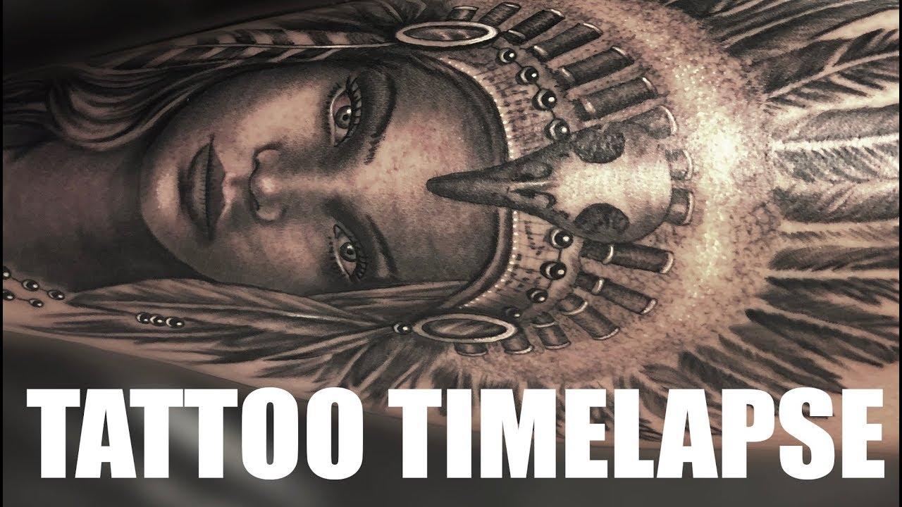 Tattoo Timelapse Native Indian Headdress Chrissy Lee Youtube