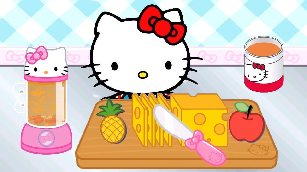 c5c6ecc1166d Hello Kitty Lunch Box Fun Kids Game - Kids Make Lunch Sandwich Cupcake Soup  Snack With Hello Kitty