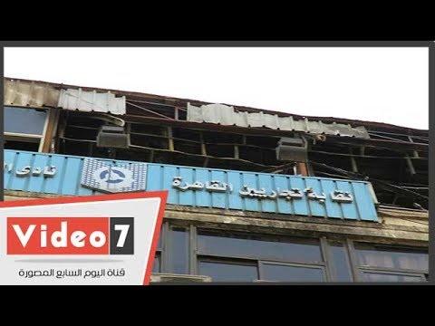 حريق نقابة التجاريين.. رئيس حى الأزبكية يكشف تفاصيل الحريق الهائل