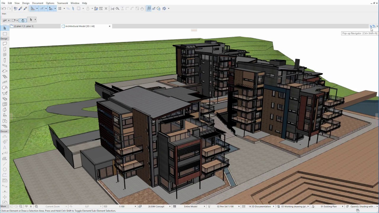Selection of information in archicad before the ifc export.