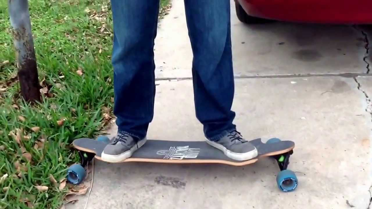 how to ride a skateboard A skateboard is a type of sports equipment used primarily for the sport of skateboarding it usually consists of a specially designed maplewood board combined with a polyurethane coating used for making smoother slides and stronger durability.