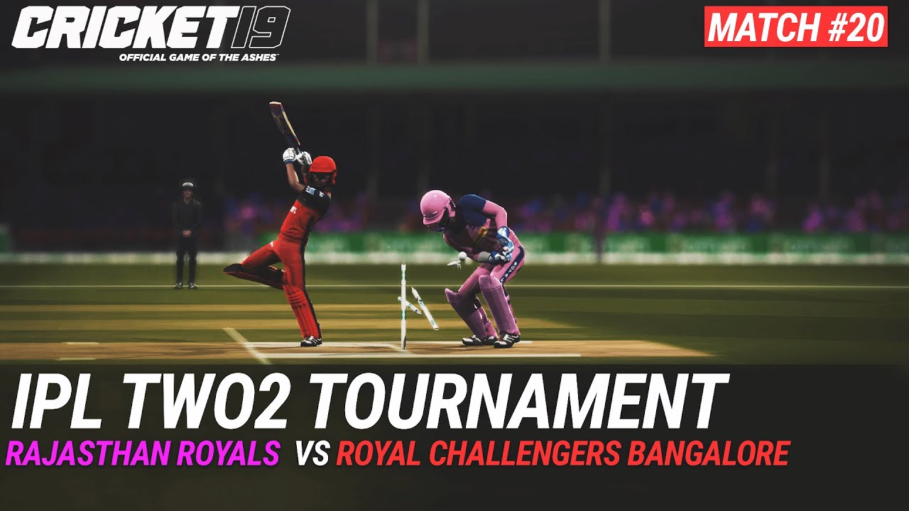 CRICKET 19 - IPL2020 TWO2 - MATCH #20 - RAJASTHAN ROYALS vs ROYAL CHALLENGERS BANGALORE