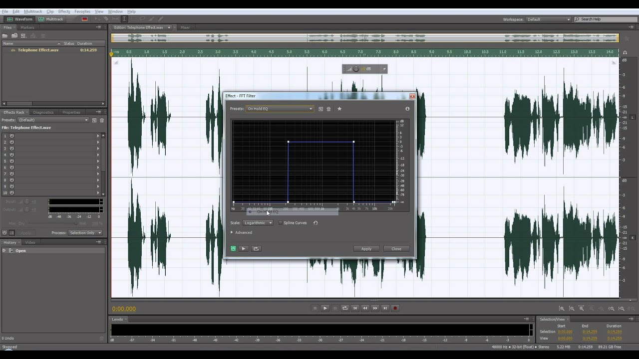 Adobe audition old radio effect