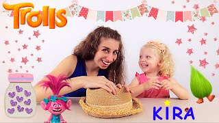 Kira and Mommy catching trolls / Dreamworks Trolls blind bags surprise opening toy review