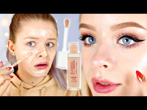 RIMMEL 25HR BREATHABLE FOUNDATION!? WEAR TEST | sophdoesnails