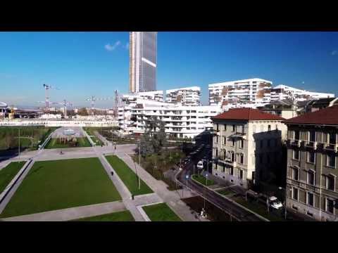 Isozaki Tower Milan City Life - EXPO 2015 Air footage
