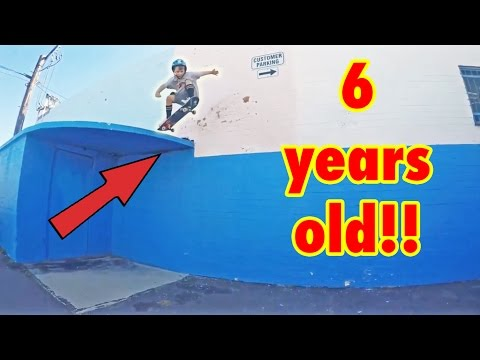 INSANE 6 YEAR OLD SKATER!