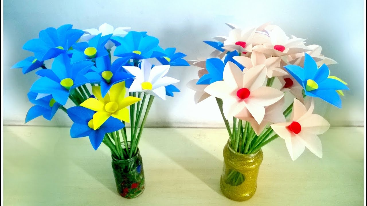 How To Make Daffodil Flower By Paper Youtube