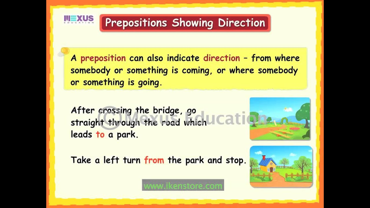 prepositions uses and examples pdf