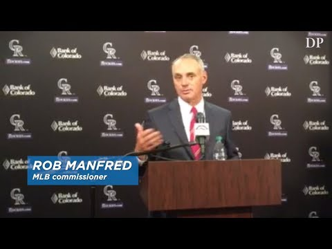 MLB commissioner Rob Manfred at Coors Field