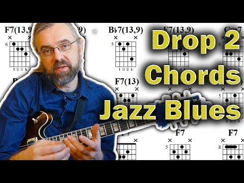 How to use Drop 2 Chords on a Jazz Blues - Bebop Skill