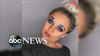 Jeweled eyebrows are the latest bizarre beauty trend to go viral