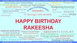 Rakeesha   Languages Idiomas - Happy Birthday