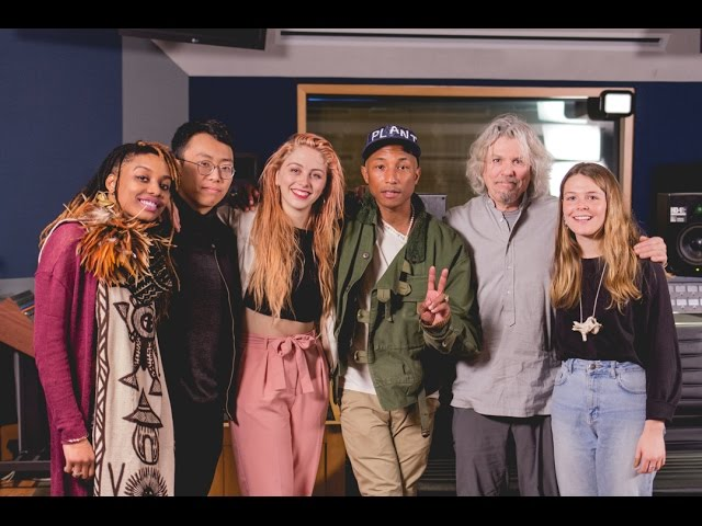 Pharrell Williams Masterclass with Students at NYU Clive Davis Institute