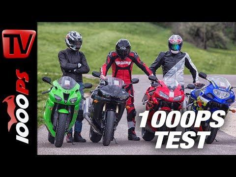 1000PS Test - Gebrauchte 600ccm Supersportler Im Vergleich - 4000 Bis 5000 Euro - ENG SUBS