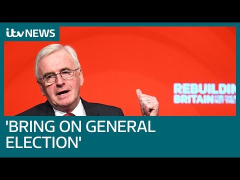 John McDonnell addresses Labour Party conference in Liverpool | ITV News