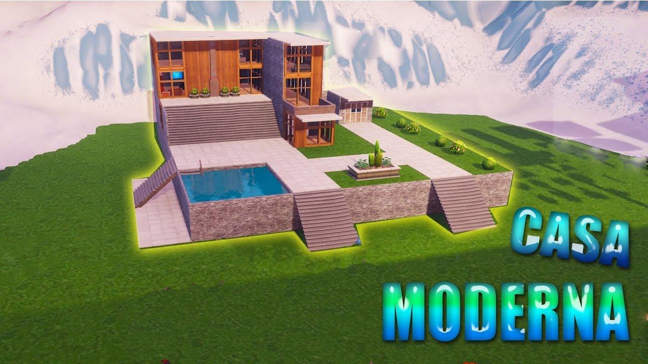creando una casa moderna en modo creativo de fortnite 1