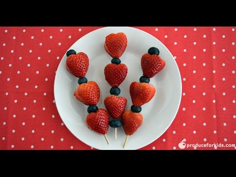 Strawberry Valentine's Day Skewers | Stop Motion