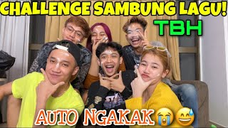 CHALLENGE SAMBUNG LAGU BIKIN NGAKAK!!WITH THE BASSURA HOUSE!!