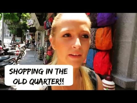 Shopping in the Old Quarter , Hanoi, Vietnam || TRAVEL VLOG || The Purple Gypsy