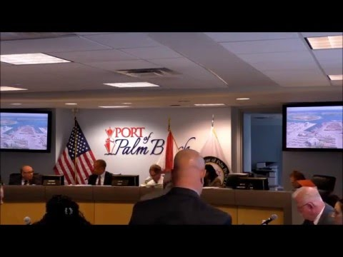 Port of Palm Beach Commission mtg. 01 21 2016