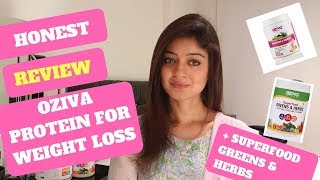 Protein Weight Loss and Superfood Detox Drinks Review of OZiva - English Subtitles
