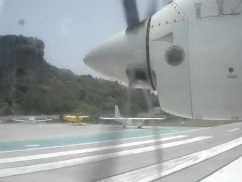 Air Caraïbes Dornier Do-228-200 take-off from St-Barths