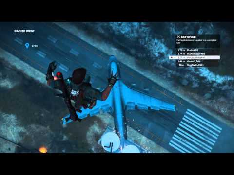 Plane Trampoline in Just Cause 3