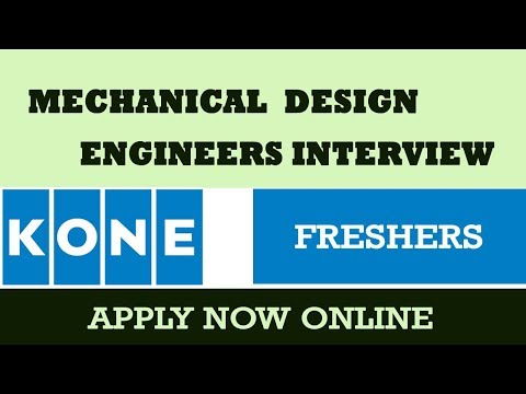 KONE  ELEVATOR JOBS -Mechanical -  Design Engineer - Fresher Interview.