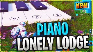 """play the sheet music at the piano near lonely lodge """"FORTNITE SEASON 7 WEEK 2 Challenges"""