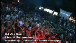 DJ JES ONE SUMMERFEST MILWAUKEE WIS. DISSOTECH SHURE SNAPPLE BREW BAKERS